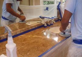 nettoyage marbre par ponçage
