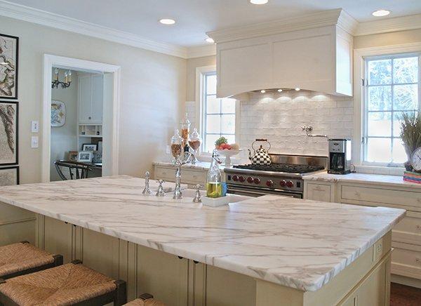 plan de travail de cuisine en marbre