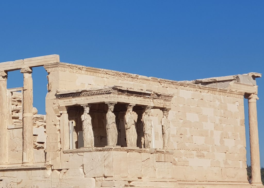 Les statues de marbre de l'Acropole Parthénon Athènes