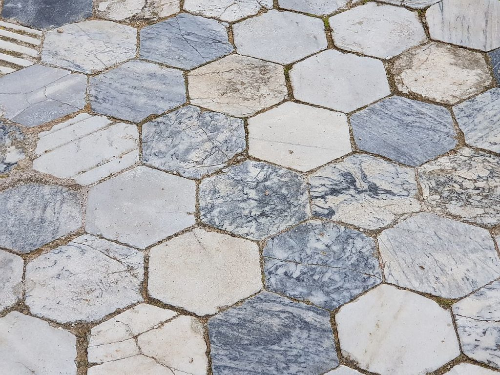 marbre sol mosaique Salamine