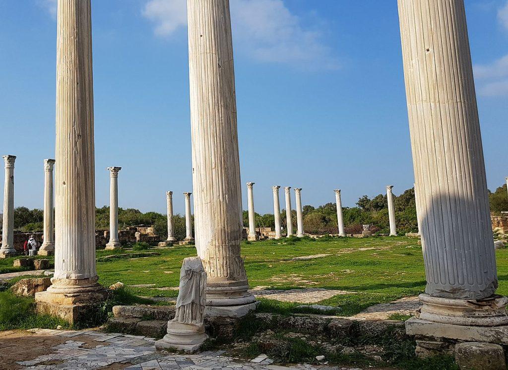 salamine chypre colonnes marbre