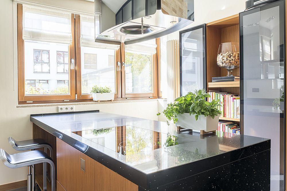plan de travail ilot cuisine en marbre